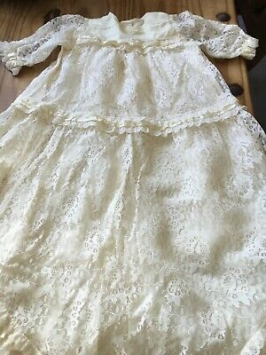 Vintage Baby Christening Gown • 20£