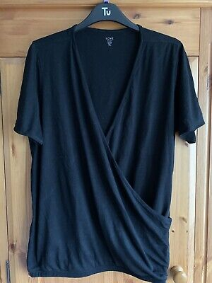 Black Maternity Nursing Crossover Top - Gap - XL 16/18 • 2£