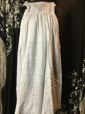 Stunning Antique Babies Christening Gown/night Dress. Museum Quality • 19.99£