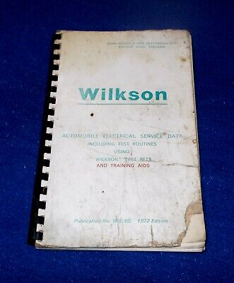 Vintage / Classic Car Electrics ~ Wilkson Test Kit Book ~ 52 Pages Information • 4.99£