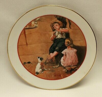 $ CDN5.97 • Buy Norman Rockwell Collector Plate Young Love 1982