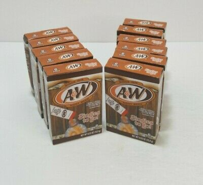 A&W Root Beer Water Drink Mix Singles To Go 66 Total Packets Sugar Free • 18.73£