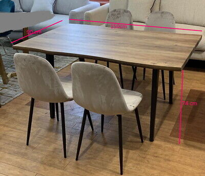 AU450 • Buy Dining Table & 4 Chairs  Wooden