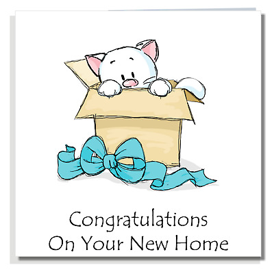 FUNNY NEW HOME CARD Congratulations Good Luck Neighbours Moving House Cat P012 • 2.99£