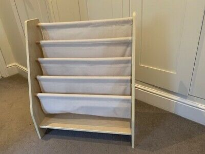 Wooden Childrens Book Shelf Sling Storage 4 Layer Bookshelf • 10£