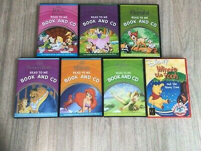BUNDLE OF 6 X DISNEY READ TO ME BOOK AND CD SETS AND 1 READ ALONG- VGC • 6£