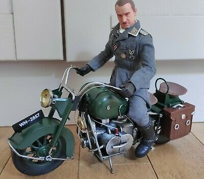 1/6 Scale METAL WW2 Soldiers Army Motorcycle For 12  Dragon Action Man Figure • 69.99£