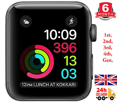 $ CDN172.84 • Buy Apple Watch Series 0/1/2/3/4, 38mm/42mm, Black/Grey/Silver, Aluminium/Sport Case