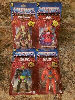 $115 • Buy Masters Of The Universe Origins Lot Scare Glow, Orko, Trap Jaw, Beast Man NIB!!