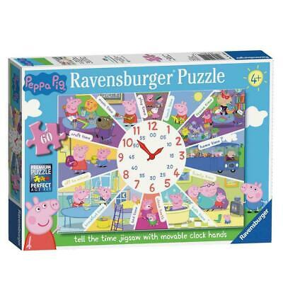 £12.99 • Buy Ravensburger Peppa Pig 60pc Tell The Time Clock Jigsaw Puzzle