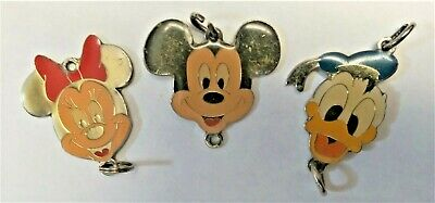 Vtg Disney Mickey Mouse Minnie Mouse Donald Duck Keychain Parts • 14.81£