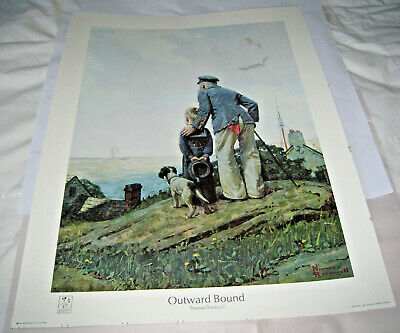 $ CDN62.42 • Buy 1982 Outward Bound Norman Rockwell Print Seal Approved By Estate (c)1927 22/28