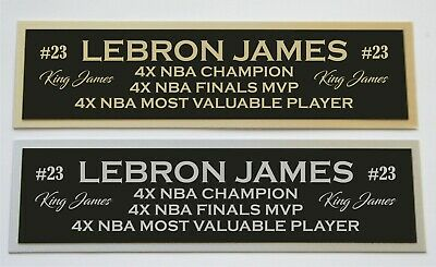 AU8.78 • Buy Lebron James Nameplate For Signed Basketball Photo Jersey Or Case