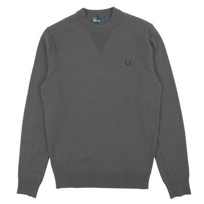 £69.80 • Buy Men's Fred Perry V Insert Crew Neck Anchor Gray Pullover Jumper Size. 2XL