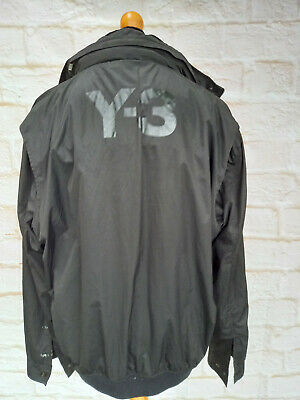 Y3 Jacket Mens Size XL Black, Broken Zip, Frontal Tear And Bleach Stains • 19.99£