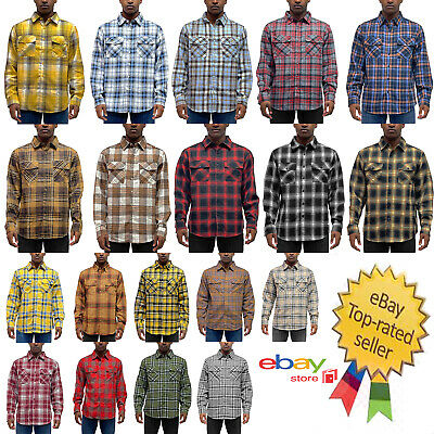 $22.99 • Buy Mens USA Size Flannel Casual Long Sleeve Button Down Shirt