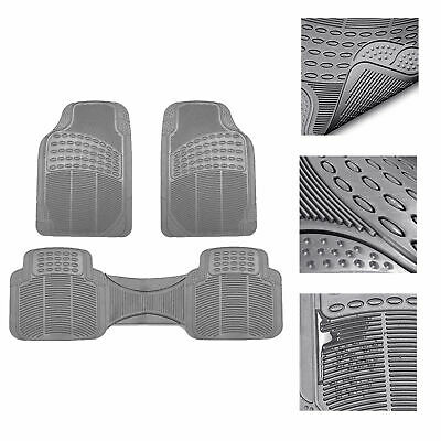 $18.99 • Buy Universal Floor Mats For Car All Weather Heavy Duty 3pc Rubber Set Gray