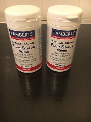 Lamberts - New Plant Sterols 800mg, 60 Tablets X 2 Bottles ( Expires 10/2021) • 25£