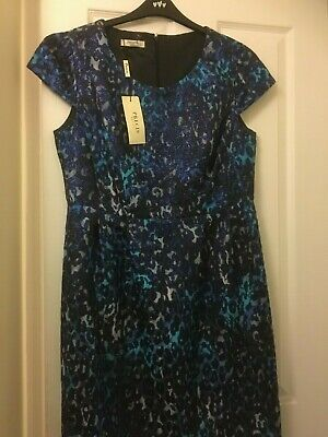 Precis Petite Blue Animal Print Dress. Size 16. Cruise/Wedding. New With Tags. • 12£