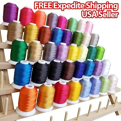 $24.99 • Buy NEW 40 Spools Embroidery Thread Match SE400 Brother / Singer Machine 550Yard