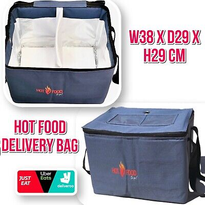Heavy Duty Hot Food Takeaway Delivery Bag For Kebab Indian Chinese Pizza Burgers • 19.99£