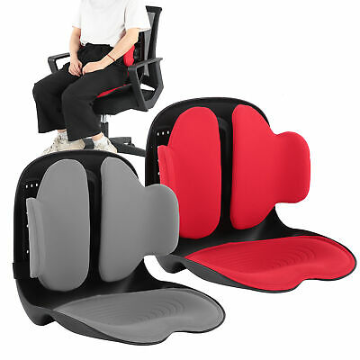 Cool Vent Cushion Mesh Back Lumbar Support Posture Correction Office Chair Seat • 155.63£