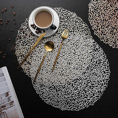 AU20.25 • Buy Set Of 4 PVC Round Placemat Dining Table Mats Washable Insulation Pads Kitchen