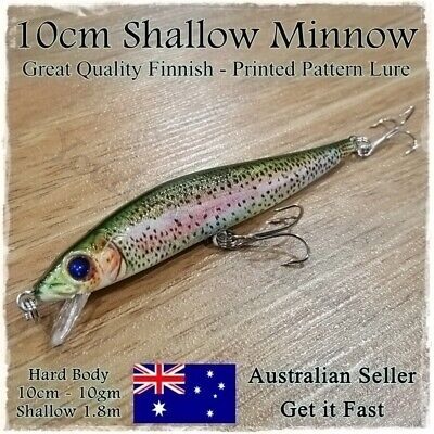 AU4.95 • Buy Fishing Lure Trout Redfin Perch Bass Yellowbelly Cod Barra Jacks Freshwater 10cm
