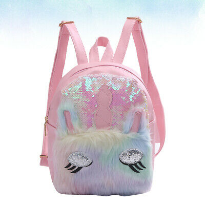 AU23.77 • Buy Cartoon Backpack Sequins Unicorn Schoolbag Kids Storage Bag Adorable Shoulder Po