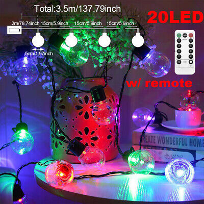 £10.99 • Buy 20LED Battery Ball Operated Fairy String Lights Outdoor Indoor Party Decor Lamp