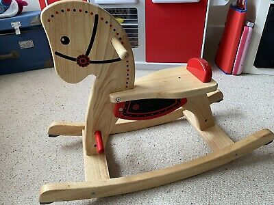 Classic Pintoy Wooden Rocking Horse John Crane Scandi Childs Traditional Toy • 13£