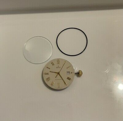 Ebel Automatic Watch Movement, Complete With Glass, Seal, Dial, Calendar & Hands • 39.99£