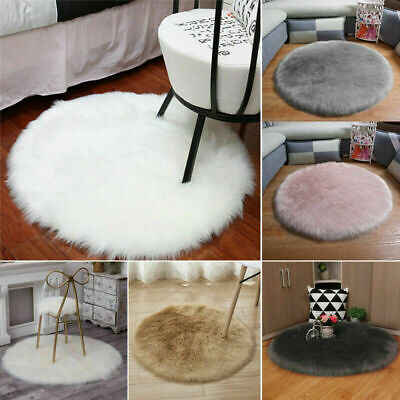 Christmas Tree Fluffy Faux Fur Skirt Base Xmas Floor Mat Cover Party Decor UK • 8£
