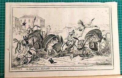 The  Comforts Of A  Cabriolet   George Cruikshank.  • 45£