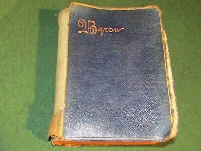 Lord Byron Poetical Works With Memoir Dated 1894 Bad Condition Albion Edition • 5.99£