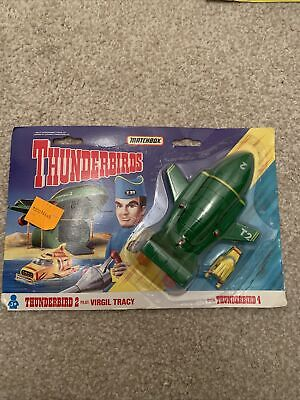Matchbox Thunderbirds 2 With Thunderbirds 4 Sealed On Card 1992 • 10£
