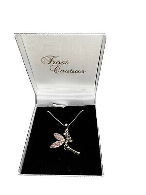 Frost Couture Tinkerbell Necklace Yellow Gold Plated, Pink Swarovski Crystal's  • 10£