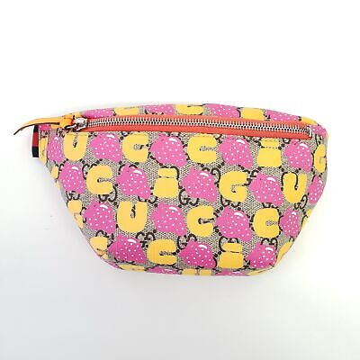 AU712.34 • Buy Gucci GG Supreme Monogram Kids Strawberry Print Belt Bag | Multicolor | NEW