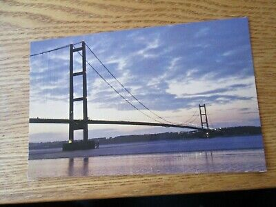 Postcard Of The Humber Bridge In The Evening (Unposted) • 0.75£