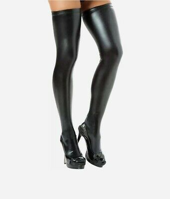 Sexy Wet Look Faux Leather PVC Stockings & Leggings Hold Ups Fetish.UK Seller.. • 3.99£