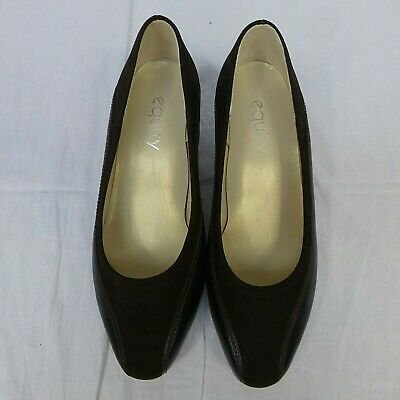 Women's Equity Brown Leather Court Shoes Size 5 NEW • 3£
