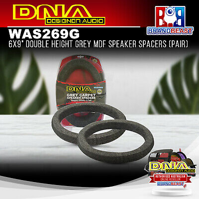 AU29.95 • Buy DNA WAS269G 6x9  Double Height Grey MDF Speaker Spacers (Pair)