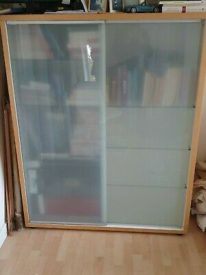 Large Modern Bookcase With Glass Doors • 37£