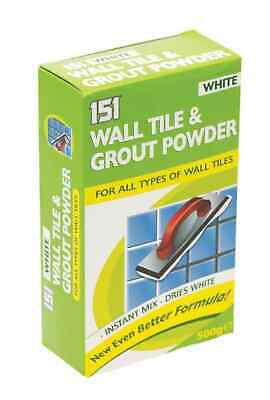 £4.20 • Buy 151 Wall Tile And Grout Powder, 500g Super White Grout