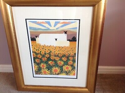 Rare Mackenzie Thorpe Limited Edition Print 'In The Sunflowers' • 600£