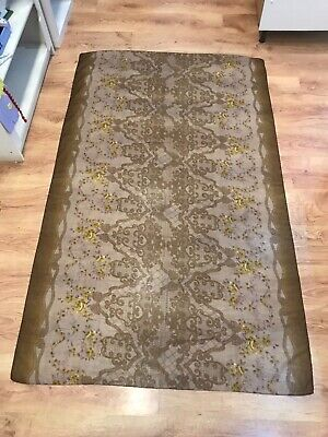 Stylish LADIES Soft Brown & Gold WOMEN'S SCARF Floral ORGANZA Flowers • 9.95£