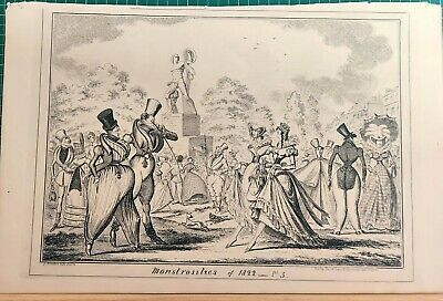 Monstrosities Of 1822   George Cruikshank.   • 45£