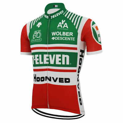 AU33.14 • Buy Retro Cycling Jersey 1986 7 Eleven Davis Phinney Vintage Short Sleeve Bike