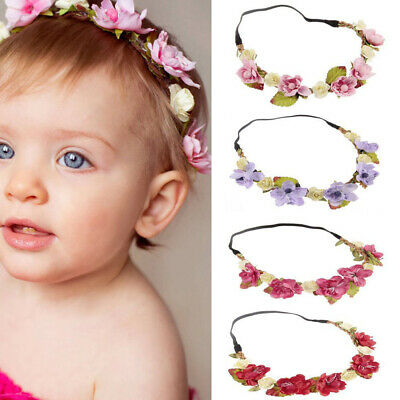 $ CDN4.02 • Buy Baby Hair Wreath Wedding Party Flower Crown Kids Hairband Hair Accessories F-