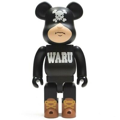 $90 • Buy Medicom BE@RBRICK Santastic Entertainment Tokyo Tribe Waru 400% Black Bearbrick